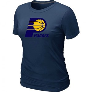 Women's Indiana Pacers Navy Big & Tall Primary Logo T-Shirt -