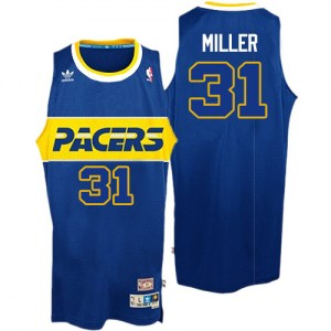 Men's Reggie Miller Indiana Pacers Adidas Authentic Blue Rookie Throwback Jersey