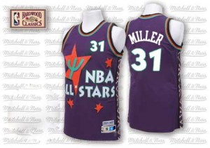 Men's Reggie Miller Indiana Pacers Adidas Authentic Purple 1995 All Star Throwback Jersey