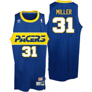 Men's Reggie Miller Indiana Pacers Mitchell and Ness Authentic Blue Throwback Jersey
