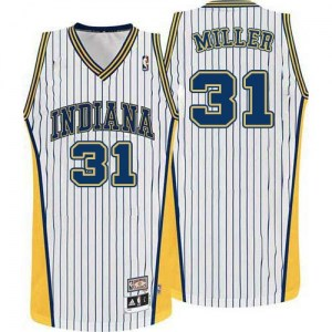 Men's Reggie Miller Indiana Pacers Mitchell and Ness Authentic White Throwback Jersey
