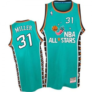 Men's Reggie Miller Indiana Pacers Mitchell and Ness Swingman Light Blue 1996 All Star Throwback Jersey