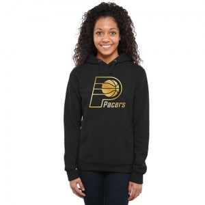 Women's Indiana Pacers Gold Collection Ladies Pullover Hoodie - Black