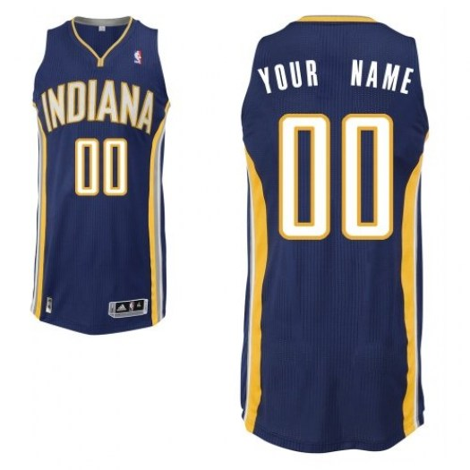 Men's Custom Indiana Pacers Adidas Authentic Navy Blue ized Road Jersey