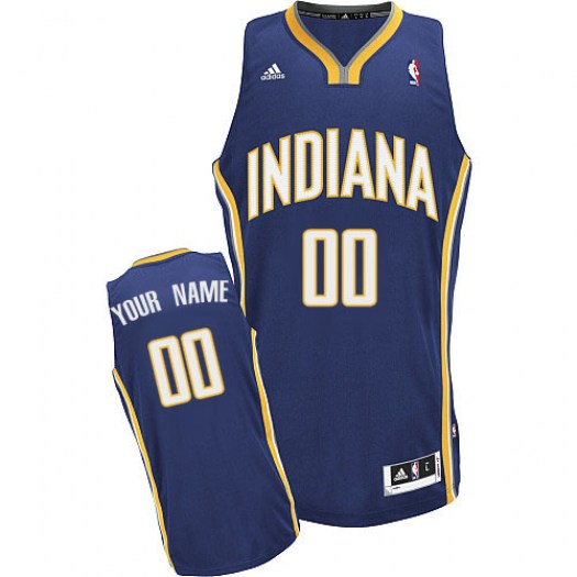 Men's Custom Indiana Pacers Adidas Swingman Navy Blue ized Road Jersey