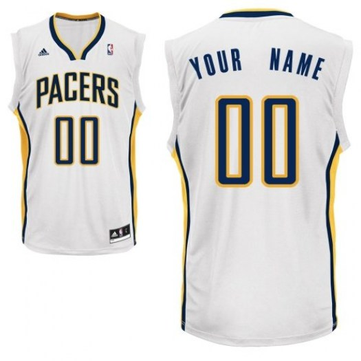 Men's Custom Indiana Pacers Adidas Swingman White ized Home Jersey
