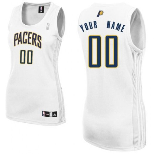 Women's Custom Indiana Pacers Adidas Authentic White ized Home Jersey