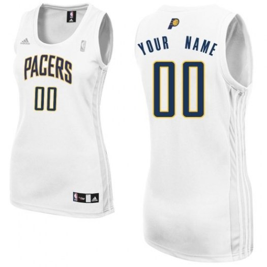 Women's Custom Indiana Pacers Adidas Swingman White ized Home Jersey