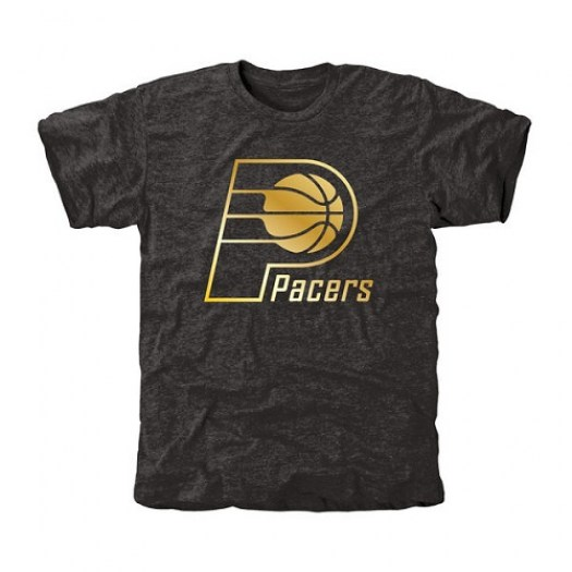 Men's Indiana Pacers Gold Collection Tri-Blend T-Shirt - Black