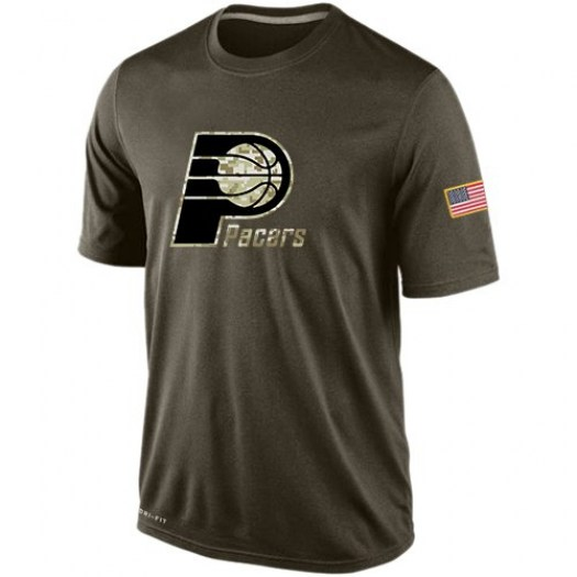 Men's Indiana Pacers Nike Olive Salute To Service KO Performance Dri-FIT T-Shirt