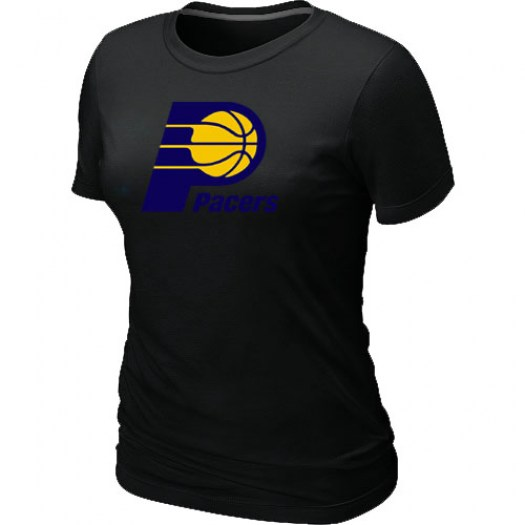 Women's Indiana Pacers Black Big & Tall Primary Logo T-Shirt -