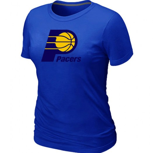 Women's Indiana Pacers Blue Big & Tall Primary Logo T-Shirt -