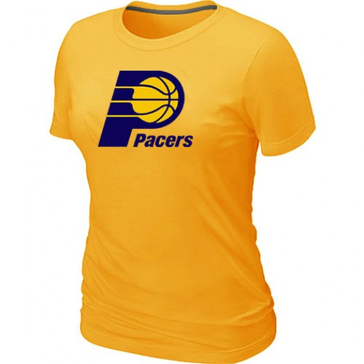 Women's Indiana Pacers Yellow Big & Tall Primary Logo T-Shirt -