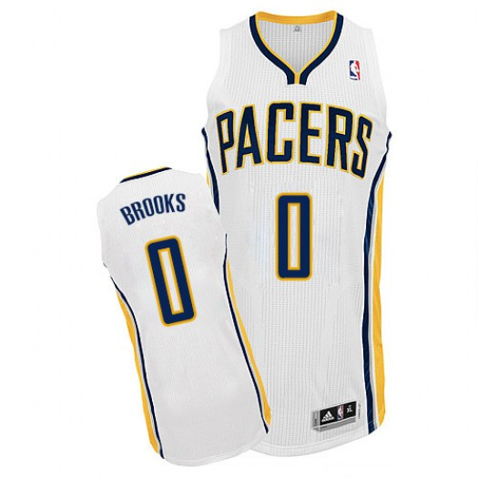 Men's Aaron Brooks Indiana Pacers Adidas Authentic White Home Jersey