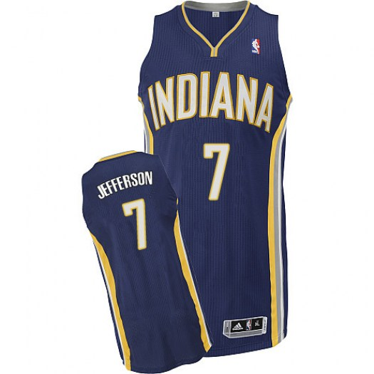 Men's Al Jefferson Indiana Pacers Adidas Authentic Navy Blue Road Jersey