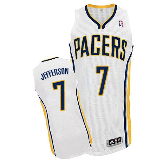 Men's Al Jefferson Indiana Pacers Adidas Authentic White Home Jersey