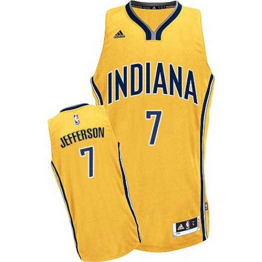 Men's Al Jefferson Indiana Pacers Adidas Swingman Gold Alternate Jersey