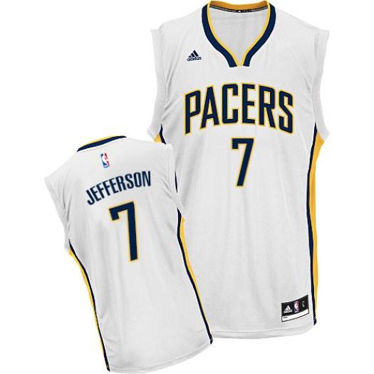 Men's Al Jefferson Indiana Pacers Adidas Swingman White Home Jersey