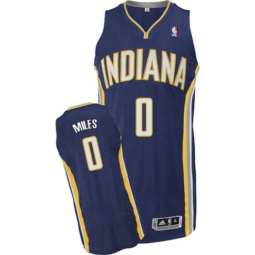 Men's C.J. Miles Indiana Pacers Adidas Authentic Navy Blue Road Jersey