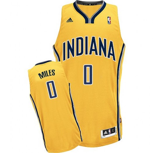 Men's C.J. Miles Indiana Pacers Adidas Swingman Gold Alternate Jersey