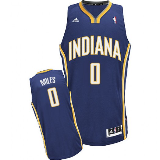 Men's C.J. Miles Indiana Pacers Adidas Swingman Navy Blue Road Jersey