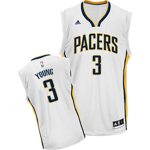 Men's Joseph Young Indiana Pacers Adidas Swingman White Home Jersey
