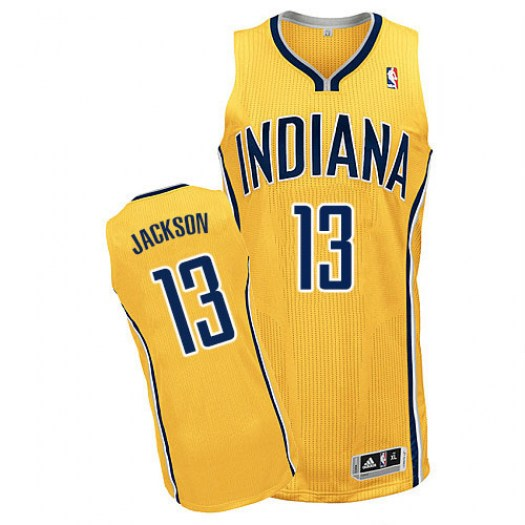 Men's Mark Jackson Indiana Pacers Adidas Authentic Gold Alternate Jersey