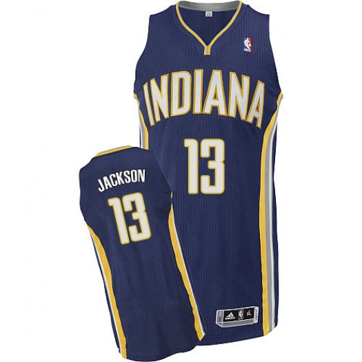 Men's Mark Jackson Indiana Pacers Adidas Authentic Navy Blue Road Jersey