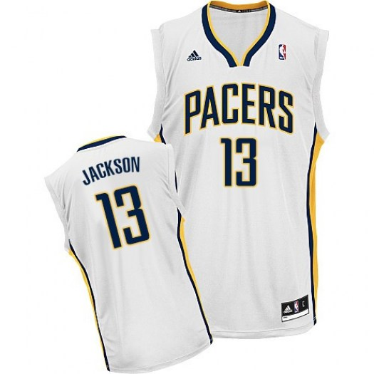 Men's Mark Jackson Indiana Pacers Adidas Swingman White Home Jersey