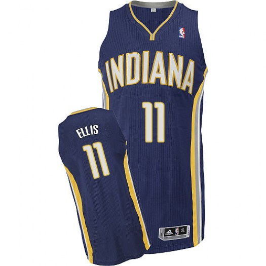 Men's Monta Ellis Indiana Pacers Adidas Authentic Navy Blue Road Jersey