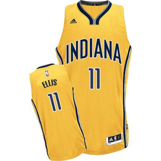 Men's Monta Ellis Indiana Pacers Adidas Swingman Gold Alternate Jersey