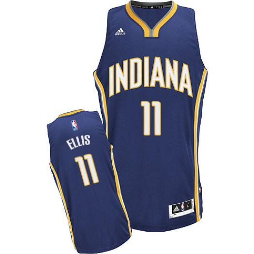 Men's Monta Ellis Indiana Pacers Adidas Swingman Navy Blue Road Jersey