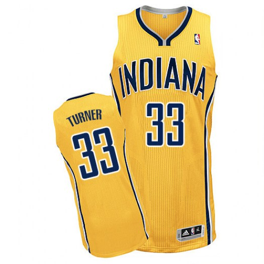 Men's Myles Turner Indiana Pacers Adidas Authentic Gold Alternate Jersey