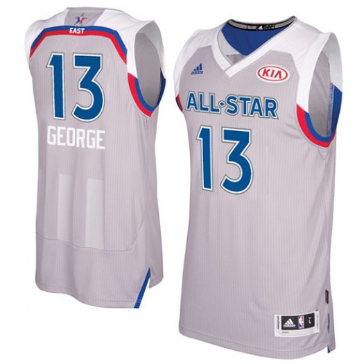 Men's Paul George Indiana Pacers Adidas Authentic Gray 2017 All Star Jersey