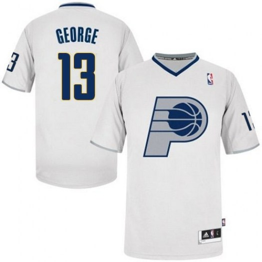 Men's Paul George Indiana Pacers Adidas Authentic White 2013 Christmas Day Jersey