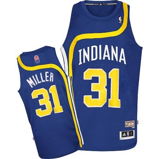 Men's Reggie Miller Indiana Pacers Adidas Authentic Blue ABA Hardwood Classic Jersey