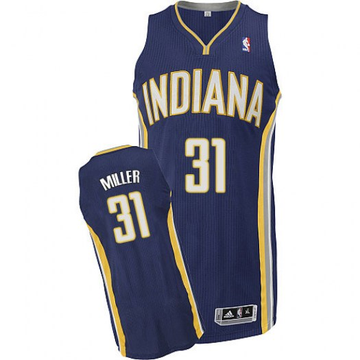 Men's Reggie Miller Indiana Pacers Adidas Authentic Navy Blue Road Jersey