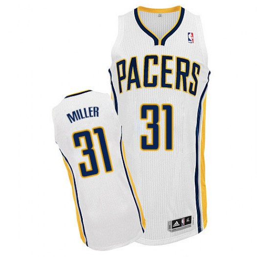 Men's Reggie Miller Indiana Pacers Adidas Authentic White Home Jersey
