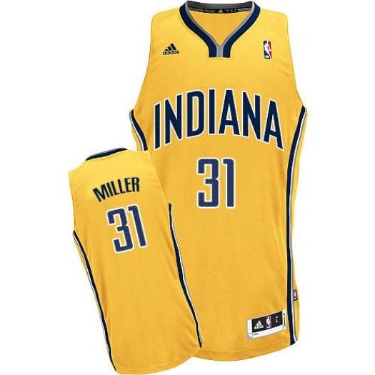 Men's Reggie Miller Indiana Pacers Adidas Swingman Gold Alternate Jersey