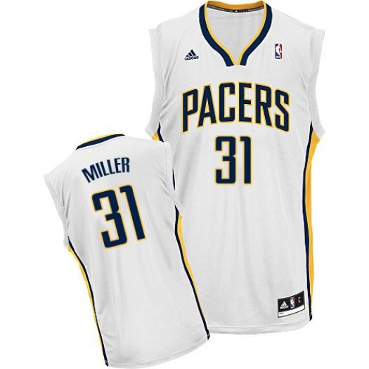 Men's Reggie Miller Indiana Pacers Adidas Swingman White Home Jersey
