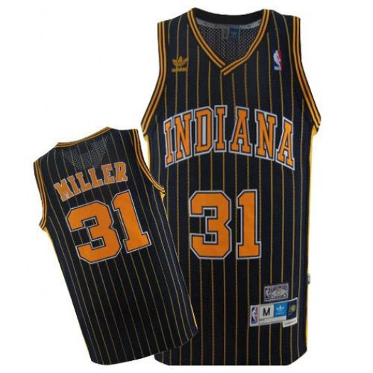 Men's Reggie Miller Indiana Pacers Mitchell and Ness Authentic Navy Blue Throwback Jersey