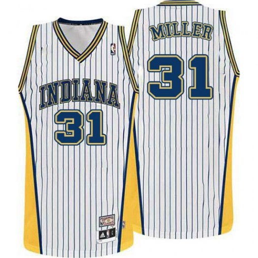 Men's Reggie Miller Indiana Pacers Mitchell and Ness Swingman White Throwback Jersey