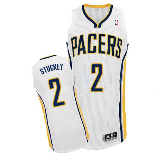 Men's Rodney Stuckey Indiana Pacers Adidas Authentic White Home Jersey