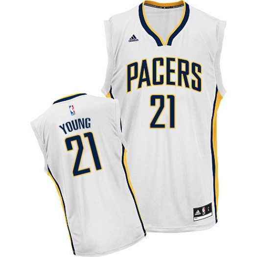 Men's Thaddeus Young Indiana Pacers Adidas Swingman White Home Jersey